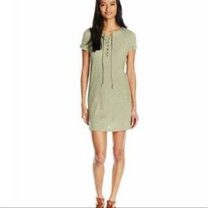 Olive Roxy Ribbed Cotton Dress